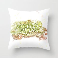 Perfection but a little moment - Sonnet 15 Quote Art Throw Pillow