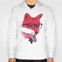 american Hoodies featuring American Fox by Robert Farkas