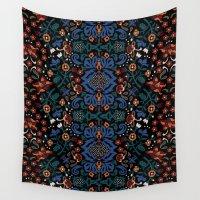 folk Wall Tapestries featuring Folk by Pommy New York