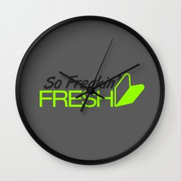So Freakin' Fresh v4 HQvector Wall Clock