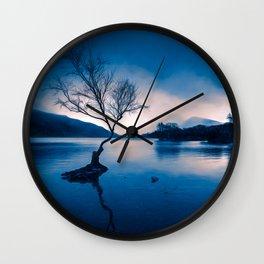 Padarn LakeTree Snowdonia Wall Clock