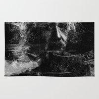 einstein Area & Throw Rugs featuring Albert Einstein by nicebleed