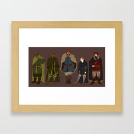 Character Line Up Framed Art Print