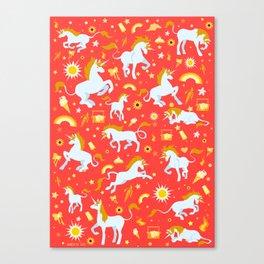 Unicorn fire Canvas Print