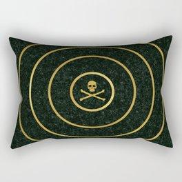 Gold Skull Target Rectangular Pillow