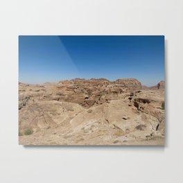 Desert In Jordan Metal Print