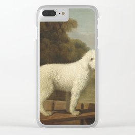 George Stubbs White Poodle in a Punt c. 1780 Clear iPhone Case