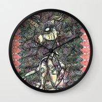 unicorn Wall Clocks featuring Unicorn by AKIKO