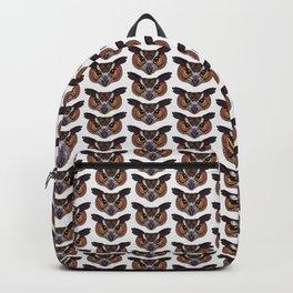 Great Horned Owl Head (white) Backpack