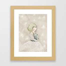 trebol, nursery decor girl Framed Art Print