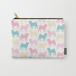 Pastel Pugs Pattern Carry-All Pouch