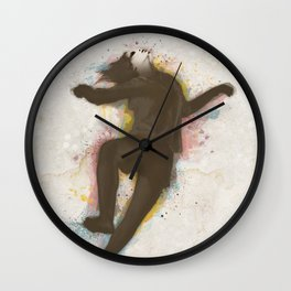 Contemporany Dancing in Color Wall Clock