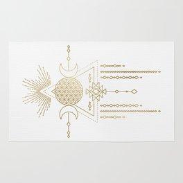 Golden Goddess Mandala Rug