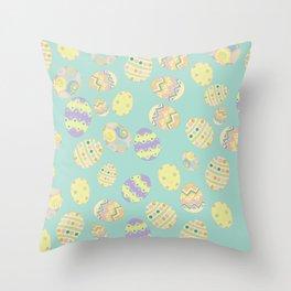 Pastel Easter Eggs I Throw Pillow