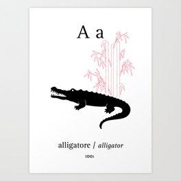A/Alligator Art Print