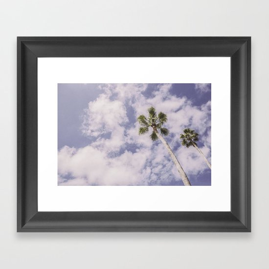 PALMS BEACH Framed Art Print