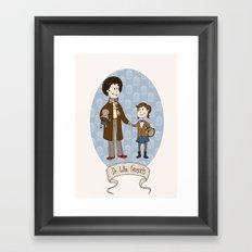 Dr Who Fangirls Framed Art Print