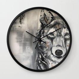 Steven the Wolf Wall Clock
