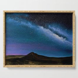 Milky Way Over Big Bend Serving Tray