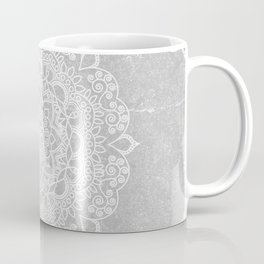 Mandala on concrete Coffee Mug