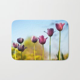 Purple tulips Bath Mat
