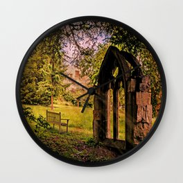 Manor house landscape. Wall Clock