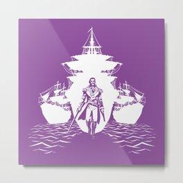 Guns and Ships Metal Print