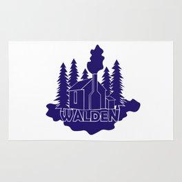 Walden - Henry David Thoreau (Blue version) Rug