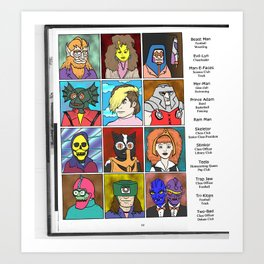 Masters of the Universe Class of '82 Art Print
