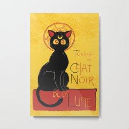 Chat Noir de la Lune Metal Print