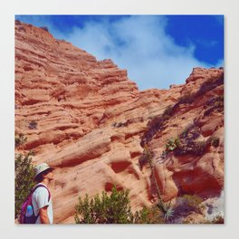 Red Rock Hike Canvas Print