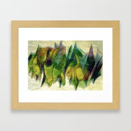 Abstract fall colors Framed Art Print