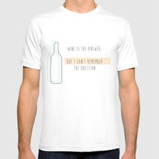 question? Mens Fitted Tee White MEDIUM
