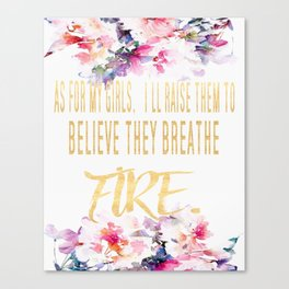 As For My Girls Wall Print Canvas Print
