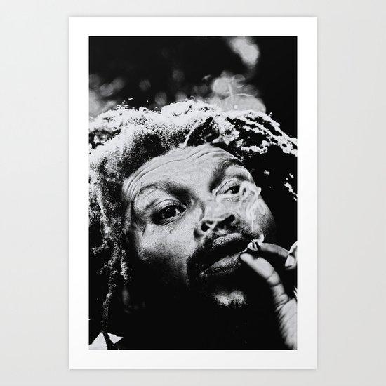 Rastafarian Art Print