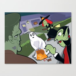 Trick or Treat Trauma Canvas Print
