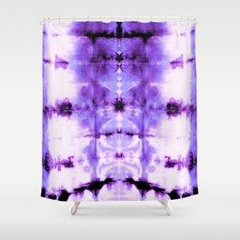 Violet Shibori Satin Shower Curtain