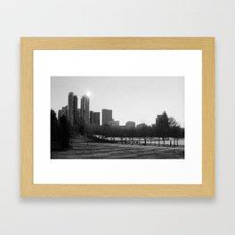 Bellevue Skyline by Morning Framed Art Print