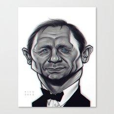 Daniel Craig as James Bond / B&W Variant Canvas Print