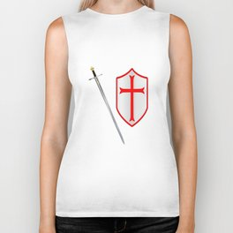 Crusaders Sword and Shield Biker Tank
