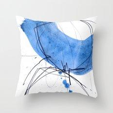 B L U E Throw Pillow