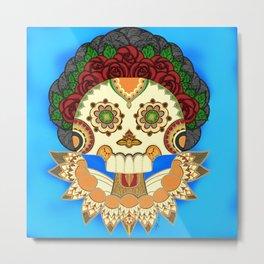 Dia de los Muertos Senora de las Rosas / Day of the Dead Lady of the Roses Metal Print