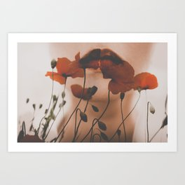 Silence Of The Flowers by Omerika Art Print