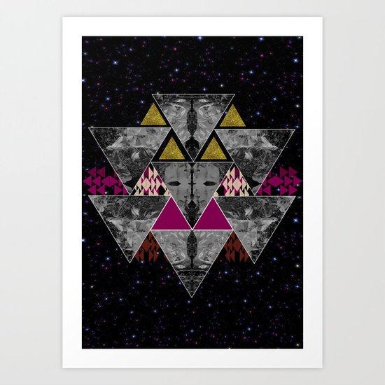 Galaxy trance  Art Print