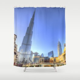 Burj Khalifa Dubai Shower Curtain