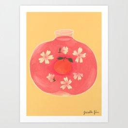 Potion à l'Orange Art Print