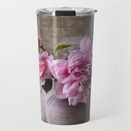 Floral Garden Rose Bouquet Travel Mug