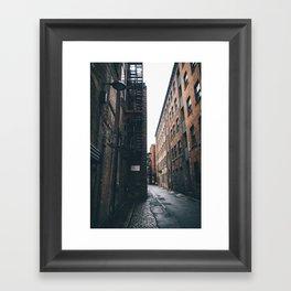 Urban grit, Manchester. Framed Art Print