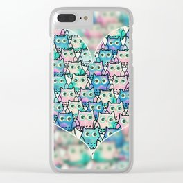 owl-124 Clear iPhone Case