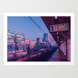 5 AM in Tokyo Art Print